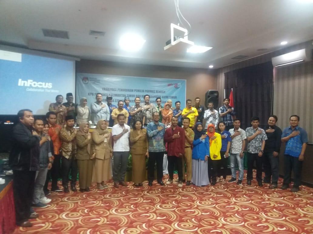 Fasilitasi Pendidikan Pemilih Parmas Rendah KPU Prov dan KPU Kab.Kutim
